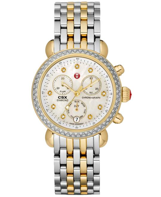 Michele Ladies Stainless Steel & Gold 36mm