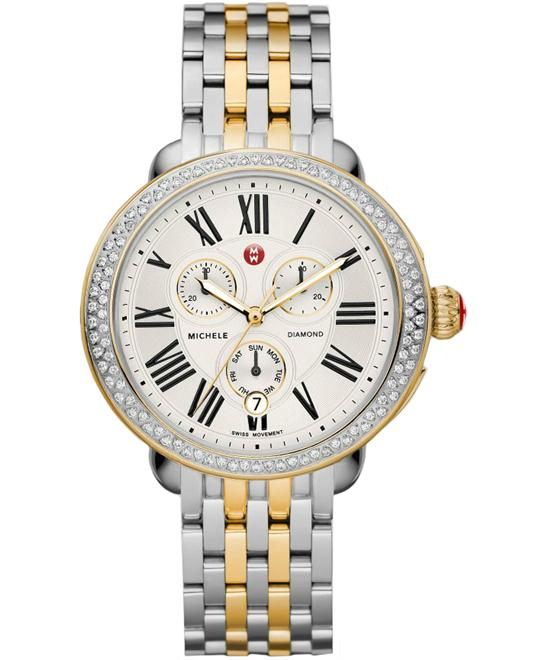 Michile Serein Diamond Two Tone Gold Watch 40*38mm