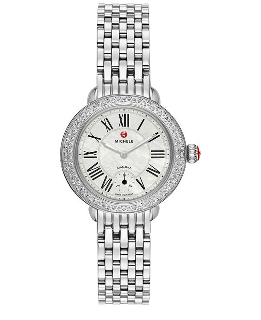 Michele Serein 14 Ladies Stainless Steel 28mm X 27.5mm
