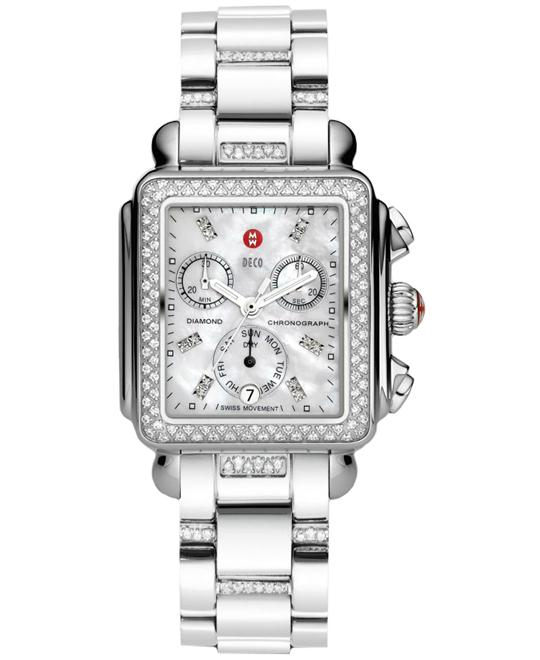 Michele Deco Diamond Dial 3-Link 33*35mm