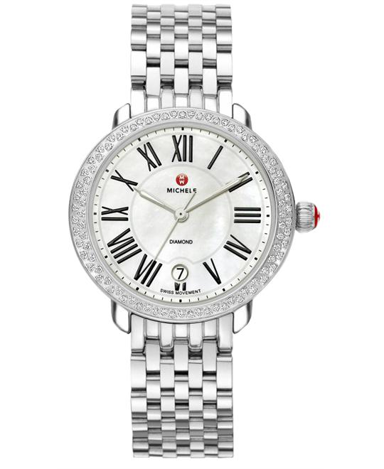 Michele Serein Ladies Stainless Steel 36mm X 34mm