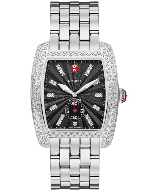 Michele Ladies Urban Black Sunburst 36mm X 37mm