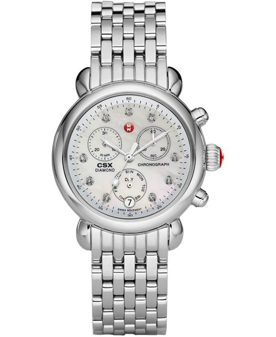 Michele CSX Diamond Dial Chronograph Ladies 36mm