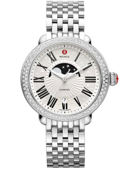 Michele Ladies Stainless Steel 40mm X 38mm