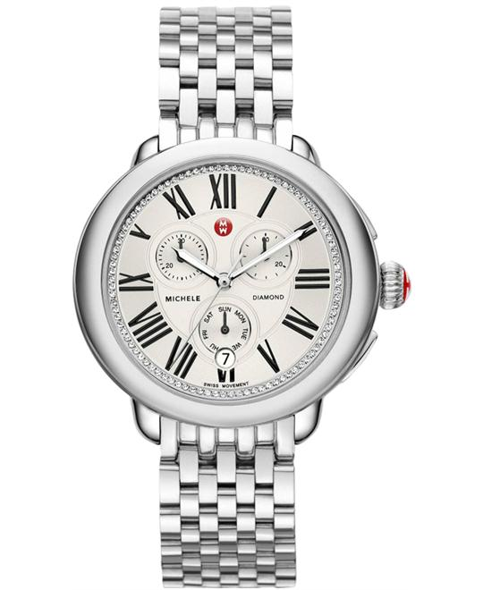 Michele Serein Chronograph Diamond Ladies 40mm X 38mm