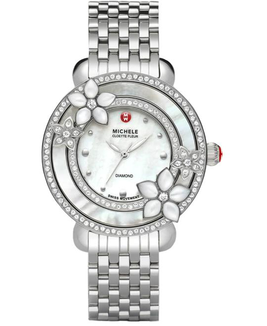 Michele Collete Ladies Stainless Diamond 38mm