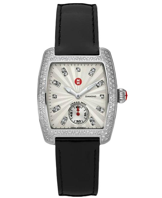 MICHELE Urban Mini Mother of Pearl Diamond Watch 29x30mm