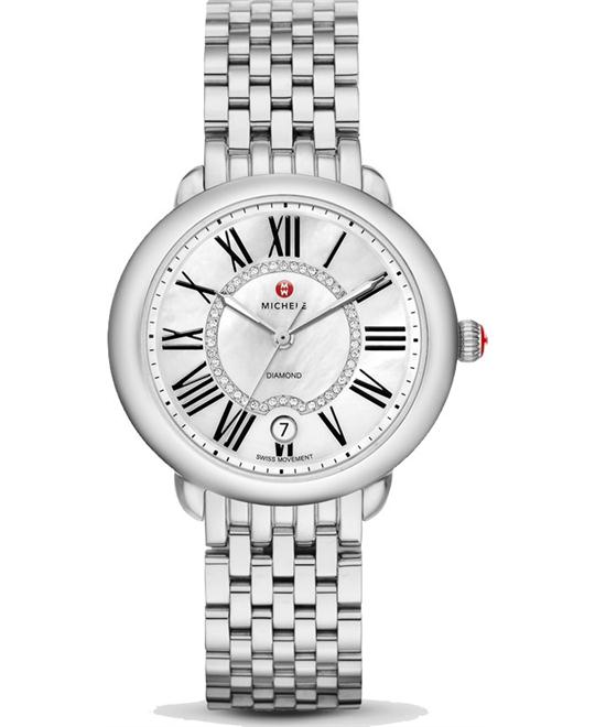 đồng hồ Michele Serein Mid Diamond Watch 36 x 34mm