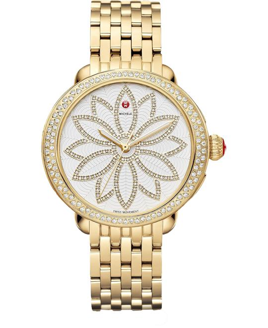 Michele Serein Diamond Gold Flower 38*40mm