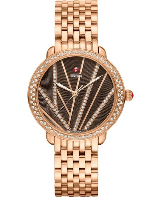 Michele Serein Mid City Lights Diamond Watch 34*36mm