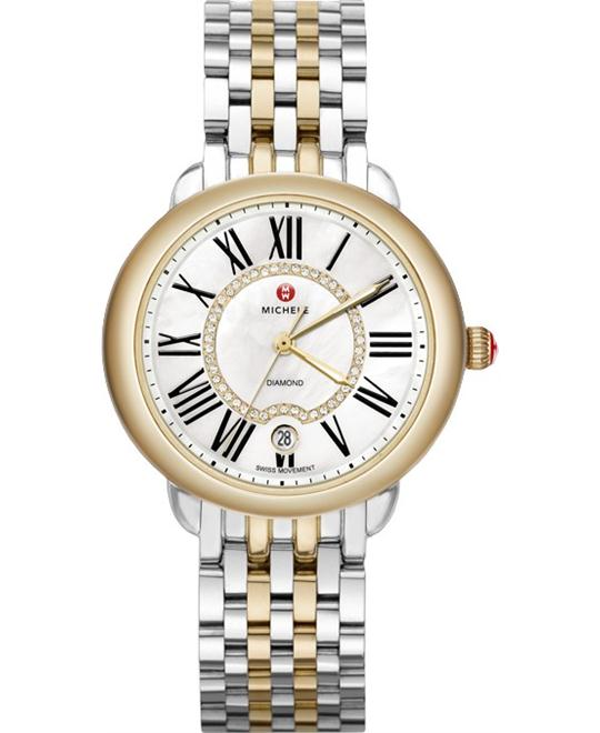 đồng hồ MICHELE Serein Mid Diamond Watch 36*34mm