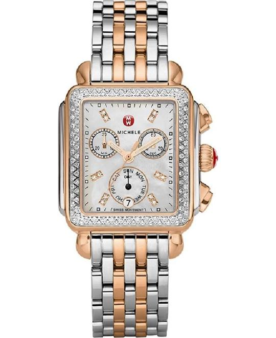 MICHELE Signature Deco Ladies Watch 35 mm x 33 mm.
