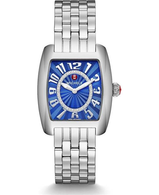 Michele Urban Mini Cobalt Diamond Watch 29 x 35mm
