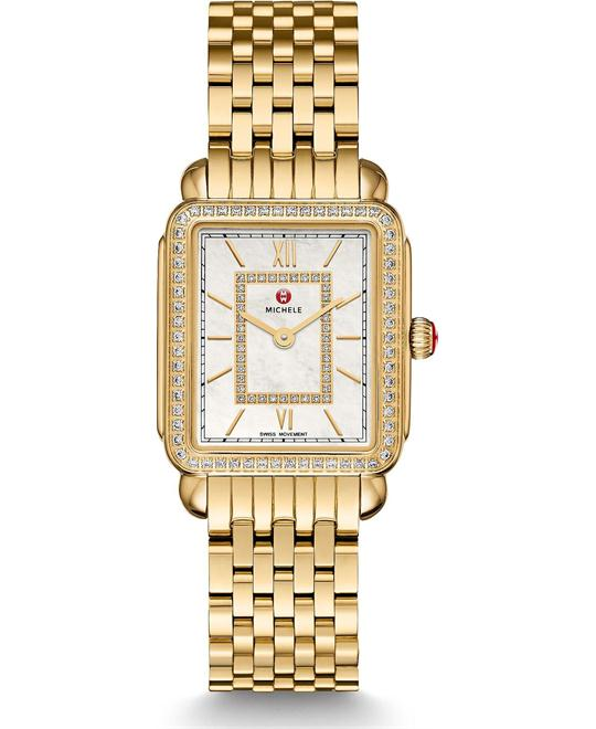 Michile Deco II Mid-size Diamond Gold Watch 26*27mm