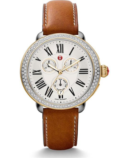 Michile Serein Diamond Saddle Calfskin Watch 40*38mm