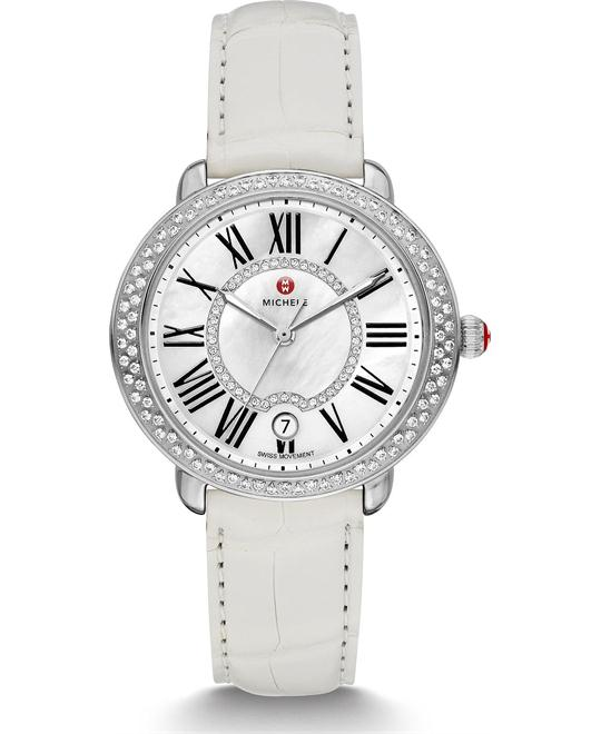 Michile Serein Mid Diamond White Watch 36*34mm