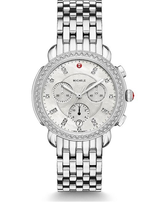 Michele Sidney Diamond Watch 38mm