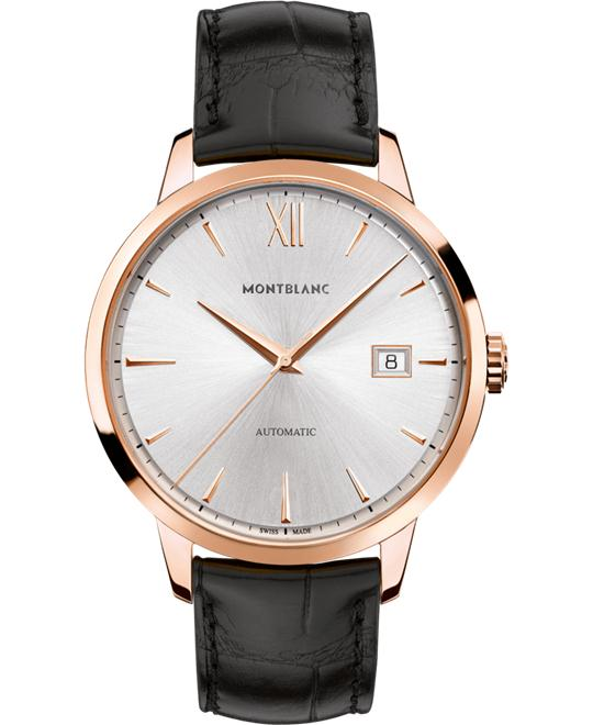 Montblanc Heritage 18K Rose Gold Silver Dial 111874 40mm