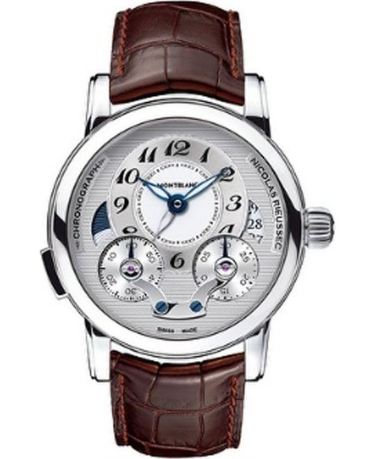 Montblanc Nicolas Rieussec 104273 Chronograph Brown Leather 43mm