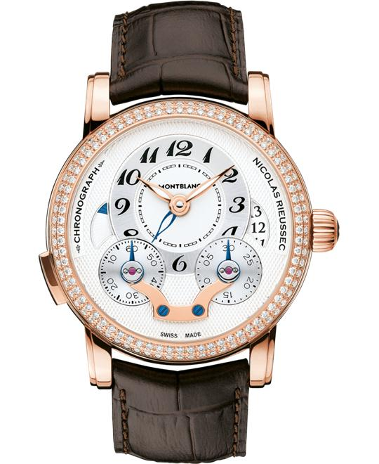Montblanc Nicolas Rieussec 108733 Red Gold Diamonds Auto 43mm