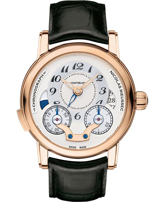 Montblanc Nicolas Rieussec 111834 Chronograph Red Gold 43mm