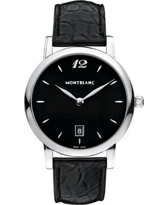 Montblanc Star Classique 108769 Black Dial Leather 39mm