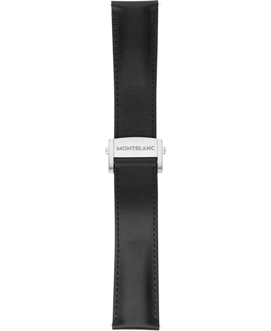 Montblanc Summit 2 Black Leather Strap 22mm