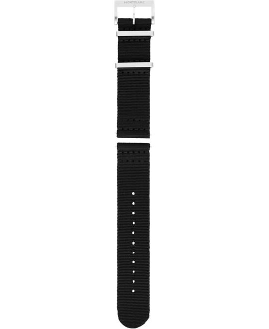 Montblanc Summit 2 Black Nylon Strap 22mm