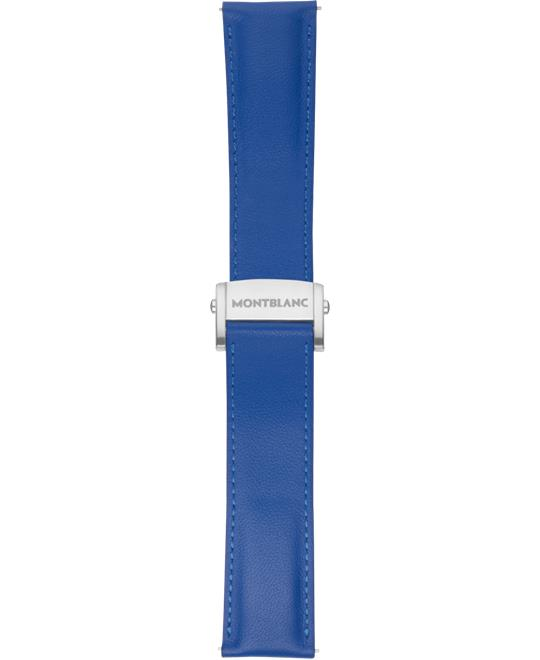 Montblanc Summit 2 Sapphire Blue Leather Strap 22mm