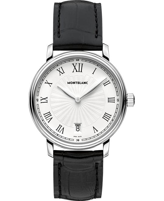 MONTBLANC Tradition Date 112635 Guilloche Watch 37mm