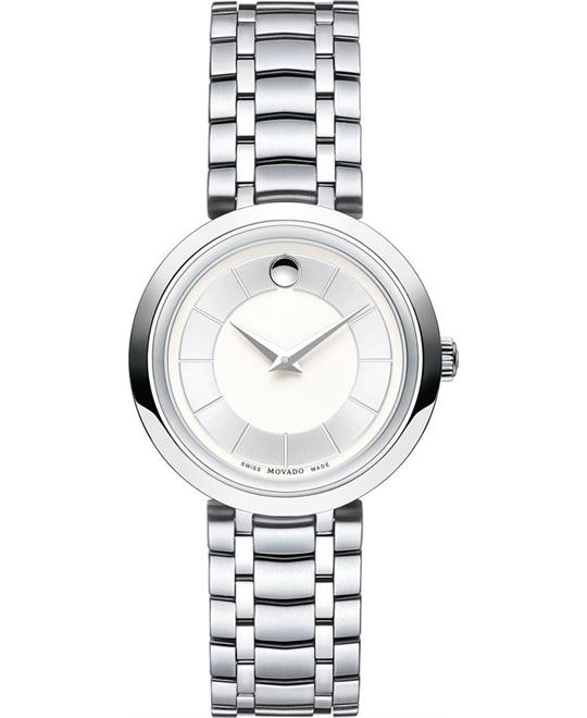 Movado 1881 Silver Dial Stainless Steel Watch 28mm