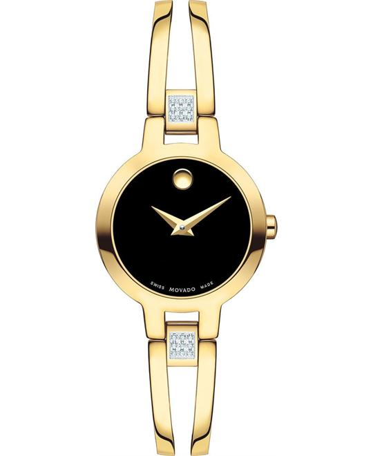 Movado Amorosa Diamonds Swiss Watch 24mm