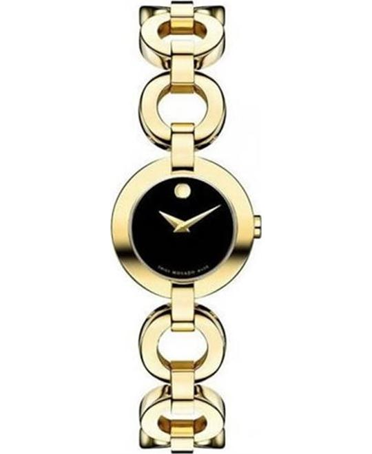 Movado Belamoda Yellow Gold-Plated Watch 24.5mm