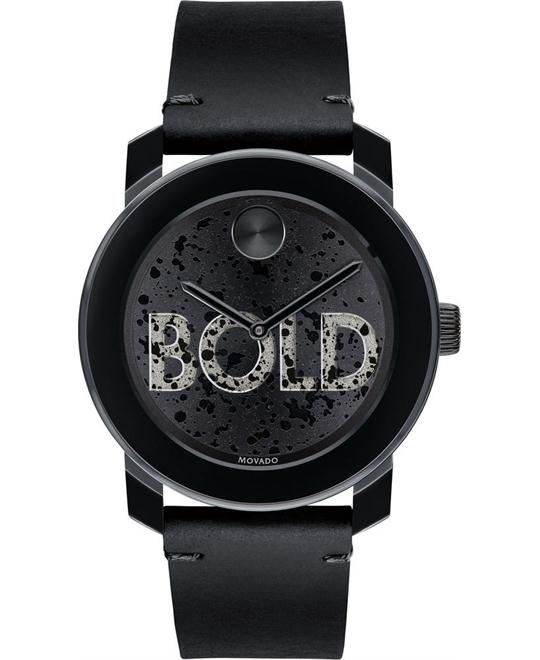 đồng hồ Movado Bold Black Men's Watch 42mm