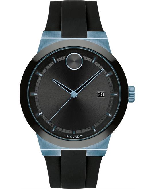 MSP: 88627 Movado Bold Black Silicone Watch 42.3mm