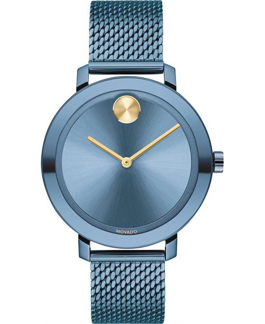 Movado Bold Evolution Blue Watch 34mm
