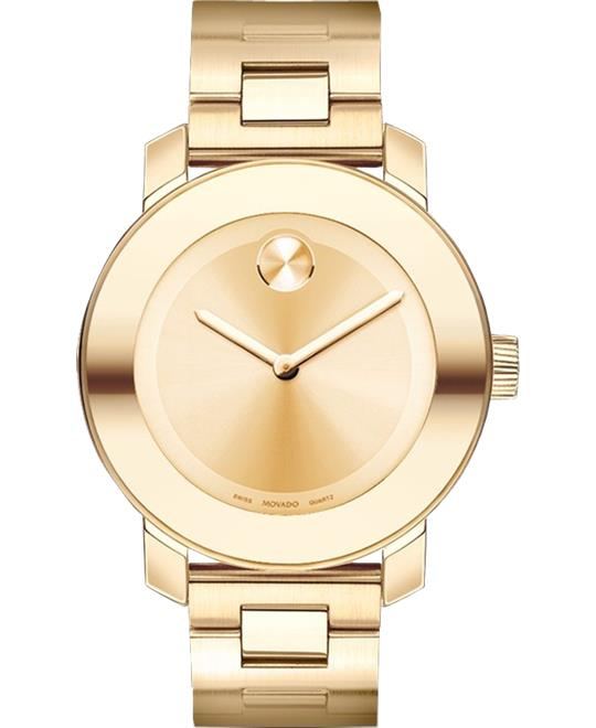 Movado Bold Champagne Gold Watch 36mm