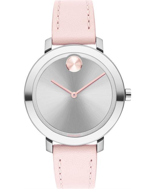 MSP: 88836 Movado Bold Evolution Pink Watch 34mm