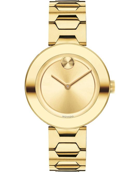 MOVADO Bold Gold Dial Ladies Watch 32mm