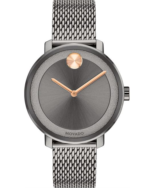 dong ho Movado BOLD Grey Ion-Plated Watch 34mm