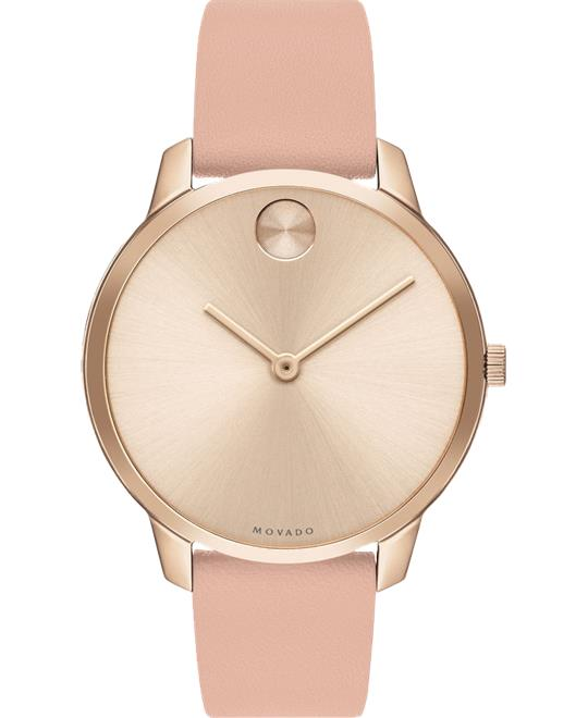 Movado Bold Pale Rose Gold Watch 35mm
