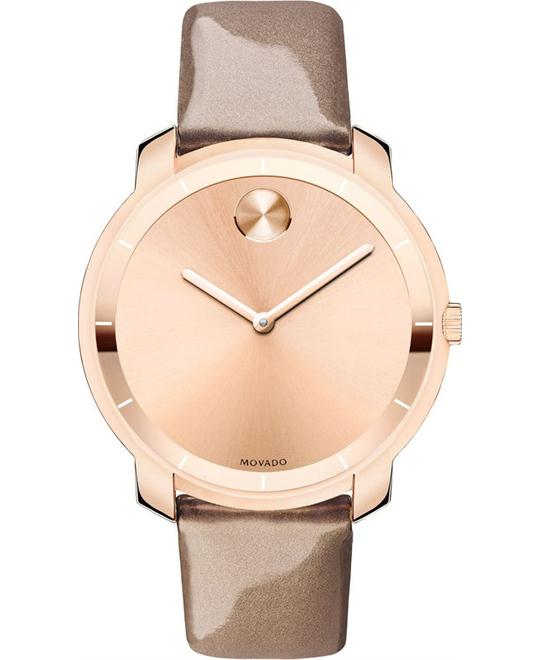 MOVADO Bold Sunray Pearlized Mocha Ladies Watch 36mm