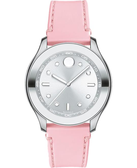 Movado Bold Pink Silicone Watch 38mm