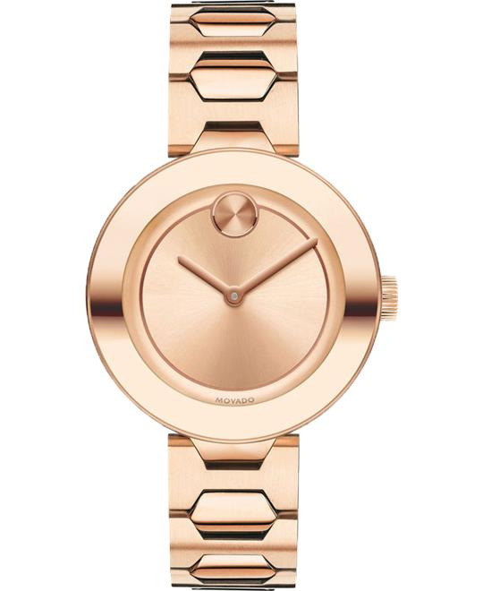 Movado Bold Rose Dial Unisex Watch 32mm