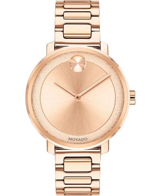 Movado Bold  Rose Gold Ladies Watch 34mm