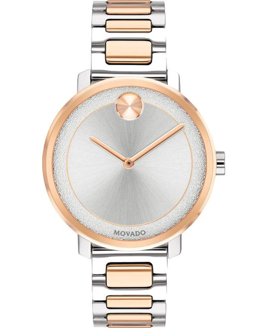 Movado Bold Silver Ladies Watch 34mm