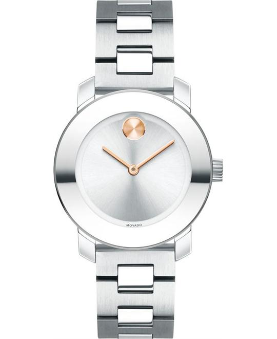 Movado Bold Silver Women's Watch 30mm