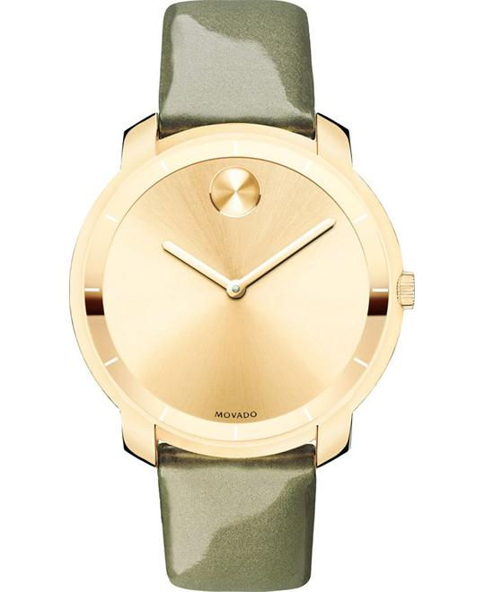 MOVADO Bold Sunray Dial Green Laides Watch 36mm