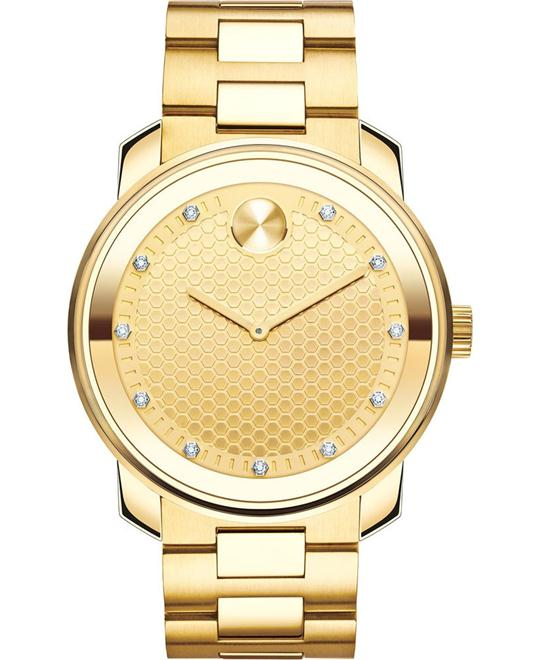 MOVADO Bold Yellow Gold Diamond Men's Watch 42.5mm