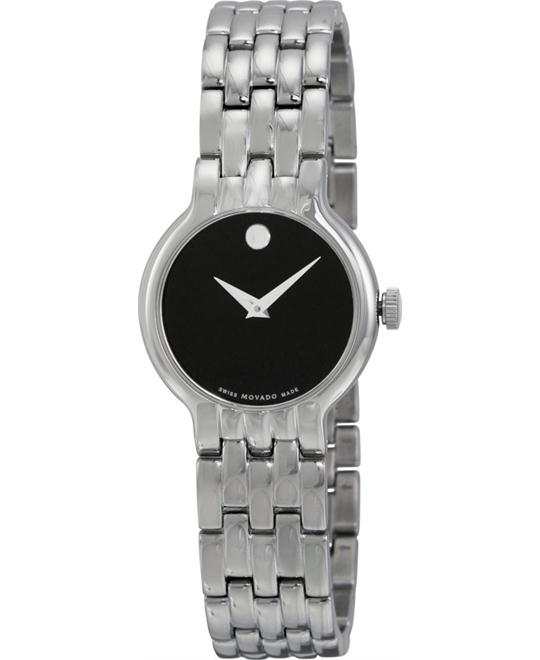 MOVADO Classic Black Ladies Watch 28mm